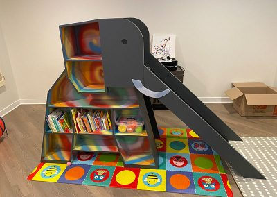 Elephant Bookshelf & Slide